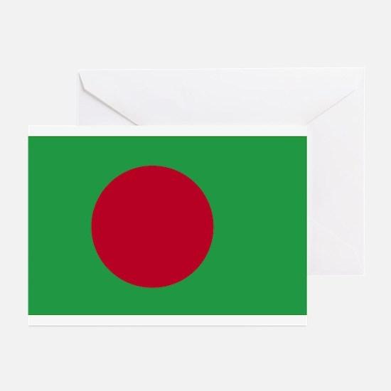 Bangladesh Flag Greeting Cards (Pk of 10)