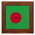 Bangladesh Flag Framed Tile
