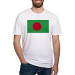 Bangladesh Flag Fitted T-Shirt