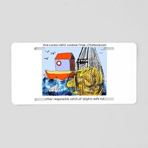 Dolphin-Safe Tuba Aluminum License Plate