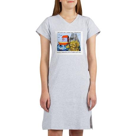 Dolphin-Safe Tuba Women's Nightshirt