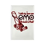 Emo Lawn Rectangle Magnet