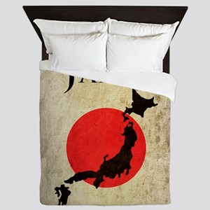 Map Of Japan Queen Duvet