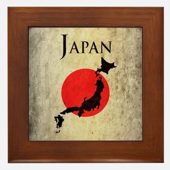Map Of Japan Framed Tile