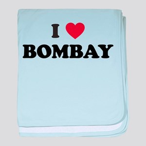 I Love Bombay baby blanket