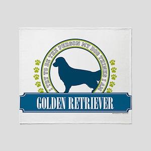 Golden Retriever Throw Blanket