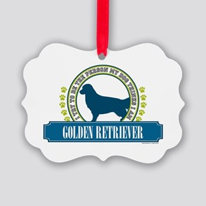 Golden Retriever Picture Ornament