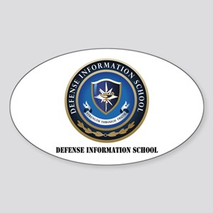 Defense Information School with Text Sticker (Oval