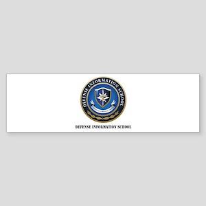 Defense Information School with Text Sticker (Bump