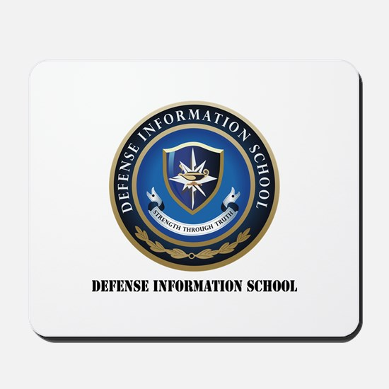 Defense Information School with Text Mousepad