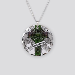 Armstrong Tartan Cross Necklace Circle Charm