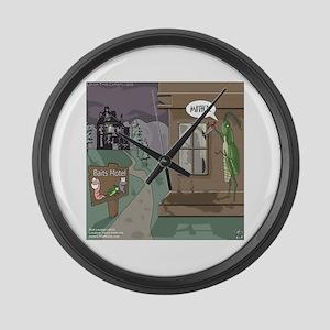 The Fishing Bates Motel Large Wall Clock