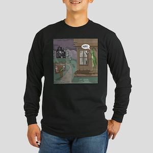 The Fishing Bates Motel Long Sleeve Dark T-Shirt