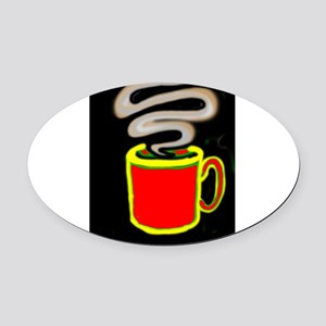 FREEDOM COFFEE VII™ Oval Car Magnet