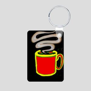 FREEDOM COFFEE VII™ Aluminum Photo Keychain