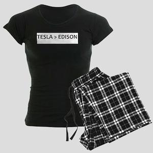 Tesla vs Edison Women's Dark Pajamas