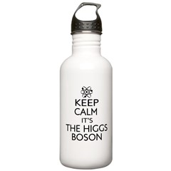 keep calm its the higgs boson Water Bottle
