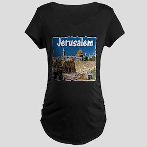 jerusalem Maternity Dark T-Shirt