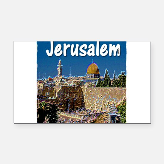 jerusalem Rectangle Car Magnet