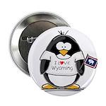 Wyoming Penguin Button