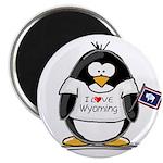 Wyoming Penguin Magnet