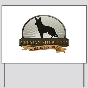 German Shepherd Yard Sign