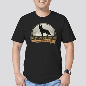 German Shepherd Men's Fitted T-Shirt (dark)