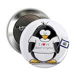 West Virginia Penguin Button
