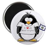 West Virginia Penguin Magnet