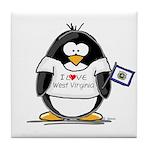 West Virginia Penguin Tile Coaster