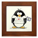 West Virginia Penguin Framed Tile