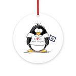 West Virginia Penguin Ornament (Round)