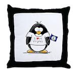 Virginia Penguin Throw Pillow