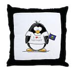 Vermont Penguin Throw Pillow