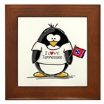 Tennessee Penguin Framed Tile