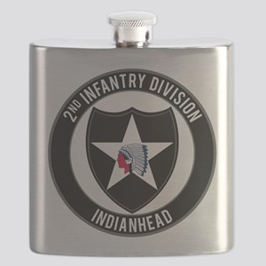 """2nd ID """"Indianhead"""" Flask"""