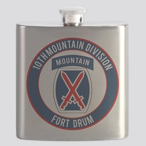 10th Mountain Ft Drum Flask