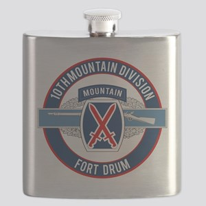 10th Mountain with CIB Flask