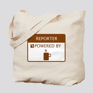 Reporter Powered by Coffee Tote Bag