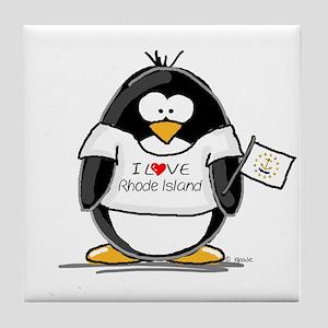 Rhode Island Penguin Tile Coaster