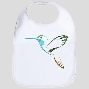 Blue and Green Patchwork Hummingbird Bib