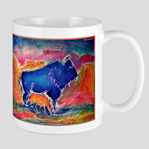 Buffalo, colorful, art! Mug