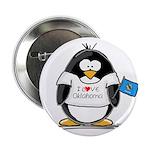 Oklahoma Penguin Button