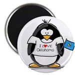 Oklahoma Penguin Magnet