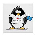 Oklahoma Penguin Tile Coaster
