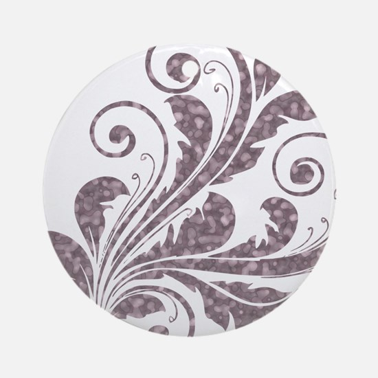 Artistic Floral Ornament (Round)