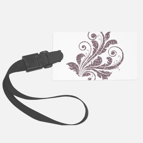 Artistic Floral Luggage Tag
