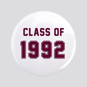 Class Of 1992 Maroon Button