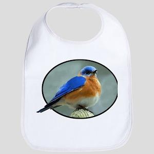Bluebird in Oval Frame Bib
