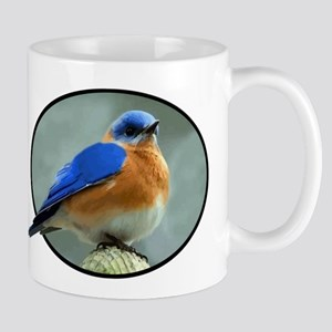 Bluebird in Oval Frame Mug